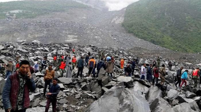 PM Nawaz expresses grief over loss of lives in China landslides