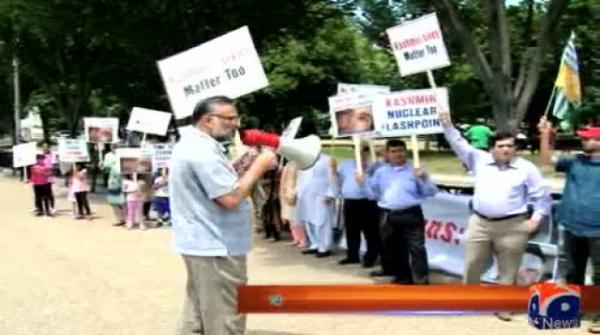 Kashmiris, Sikhs protest Modi visit outside White House