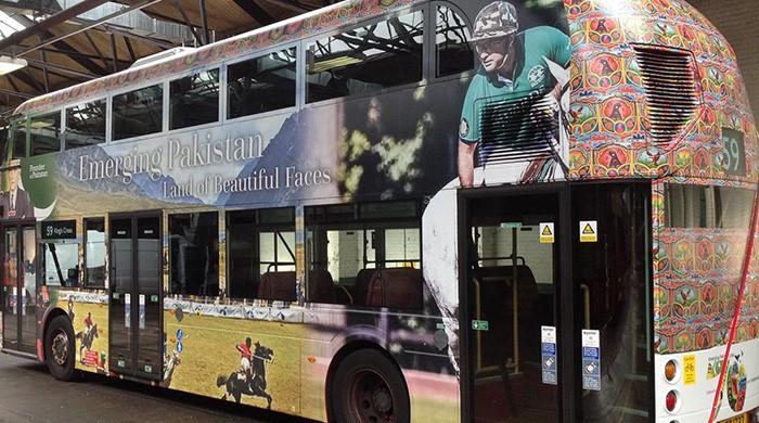 'Emerging Pakistan' branding on London buses