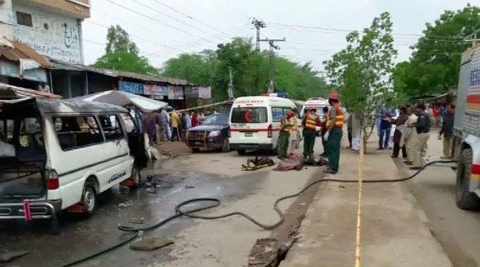 Eight, including four children, killed in separate accidents in Punjab