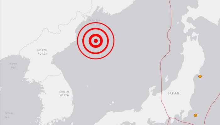 Magnitude-5.8 quake detected off N. Korea's east coast: US Geological Survey