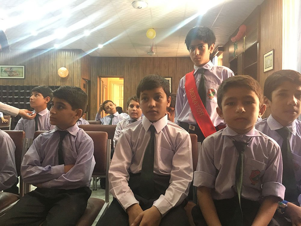Students attending classes at Zamung Kor