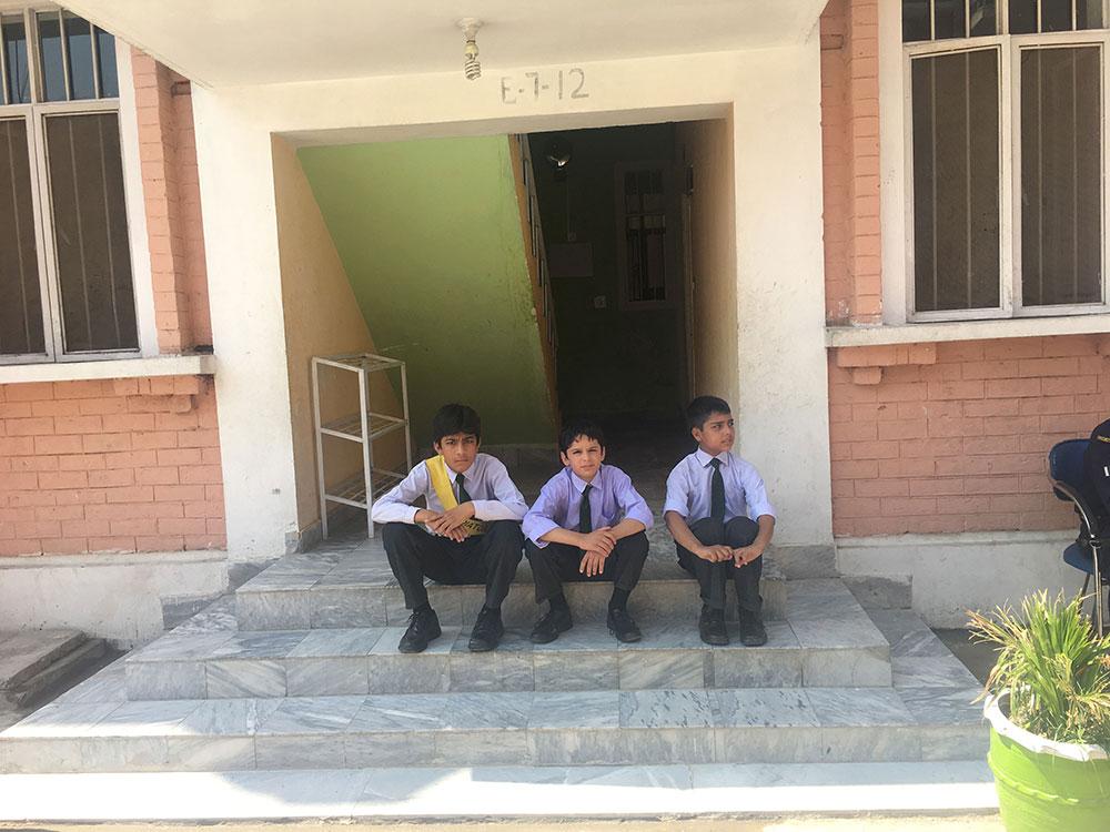 Students at Zamung Kor enjoying a break