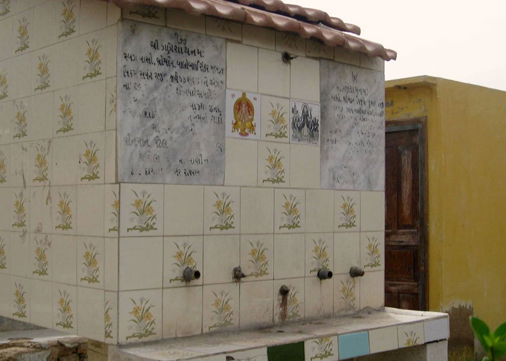 A tomb marking a grave at the HIndu graveyard