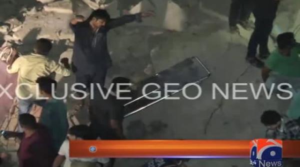 لیاقت آباد میں تین منزلہ عمارت زمیں بوس، 3افراد جاں بحق