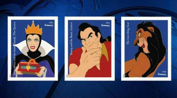 Postage stamps pay homage to Disney Villains