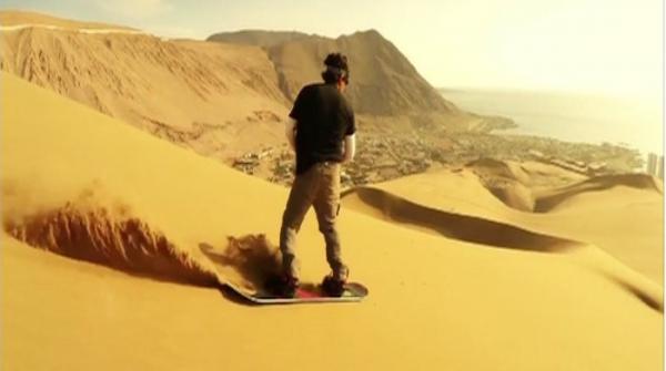 Epic Sandboarding On the Sand Dunes