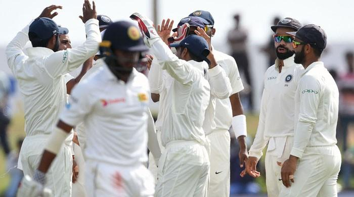 India leave Sri Lanka reeling at 154-5 in first Test