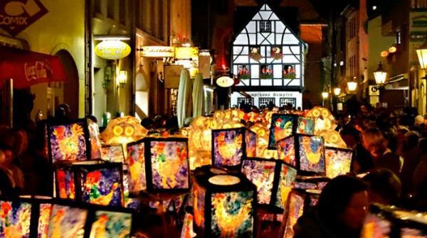 Lantern festival celebrated in Germany