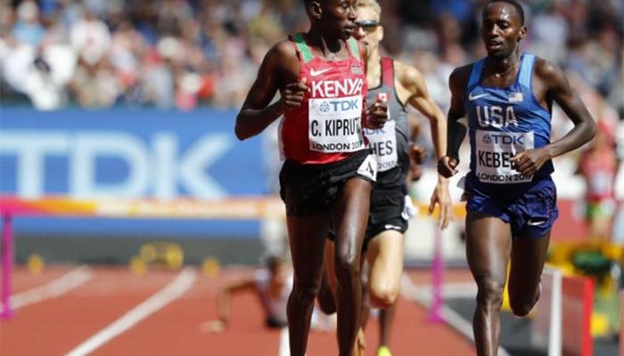 Kenya's Geoffrey Kirui wins men's marathon in come-from-behind fashion