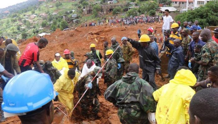 Hundreds dead and missing after mudslide in Sierra Leone