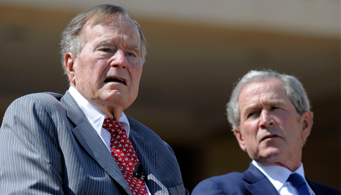 Presidents Bush condemn racism in joint statement following Charlottesville violence