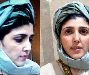 Ayesha Gulalai enters NA wearing tribal turban, says fighting 'mafia' alone