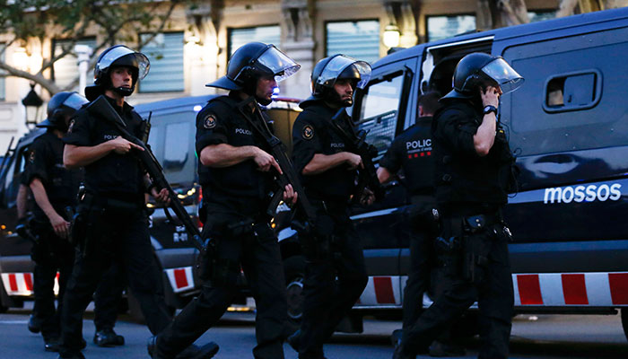 14 civilians, five terrorists die in Spain's twin attacks