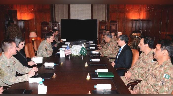 US CENTCOM commander meets COAS to discuss peace in Afghanistan