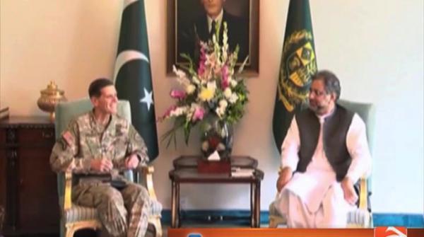 PM meets US Central Command Commander Gen Joseph Votel 19-August-2017