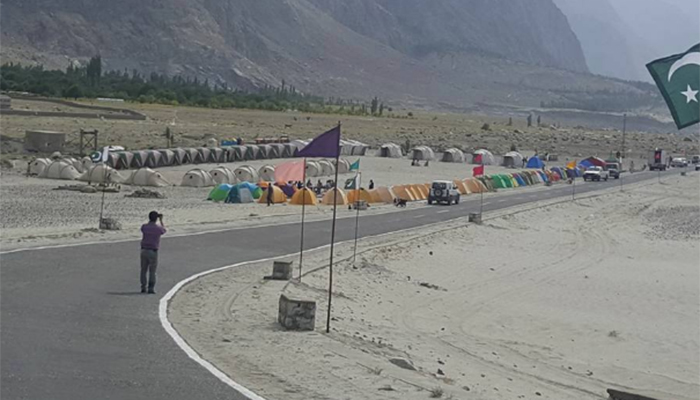 Tents set up for tourists, participants. Photo: Hamid Hussain