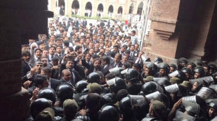 Lawyers call strike after arrest order triggers clashes at LHC