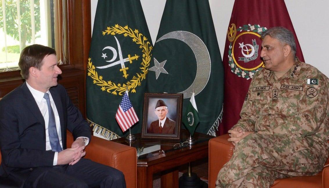 Image result for David Hale & Gen Qamar Javed Bajwa discuss matters of mutual interest