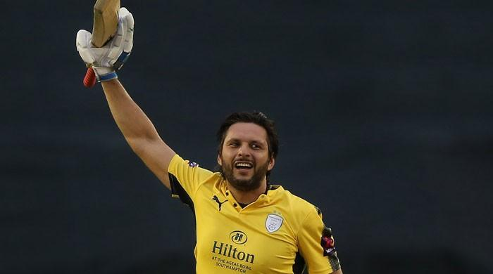 Afridi's quick-fire ton lifts Hampshire