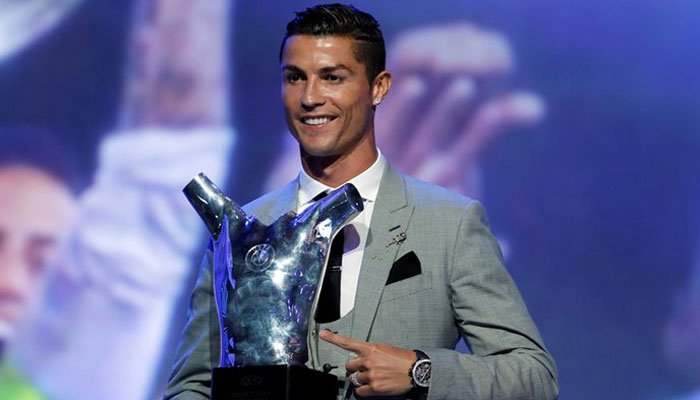 Ronaldo wins UEFA men's best player award