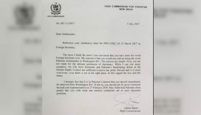 Basit writes scathing letter to Aizaz Chaudhry