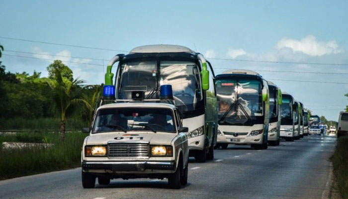 In Cuba, some 10,000 foreign tourists were evacuated from beach resorts/AFP