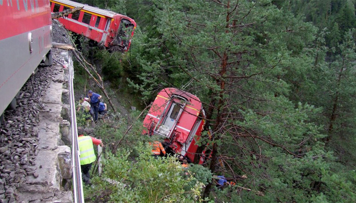 Switzerland Train Crash In Andermatt Injures 30