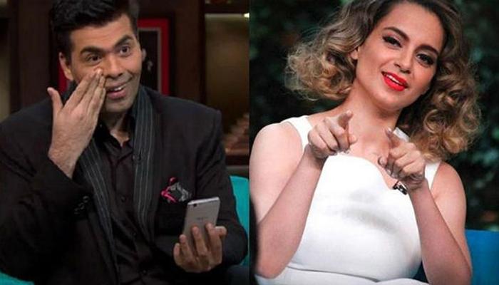 Filmmaker Karan Johar and actress Kangana Ranaut