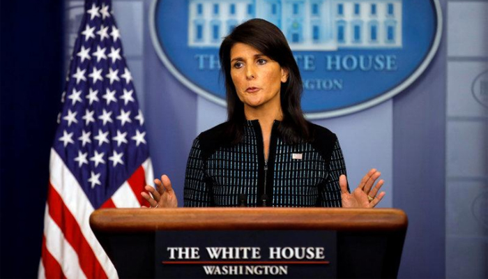 White House holds press briefing with McMaster, Haley