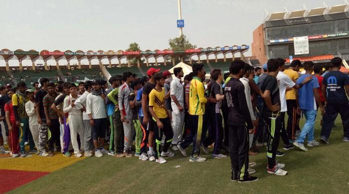 Thousands turn up for Qalandars trials at Gaddafi Stadium