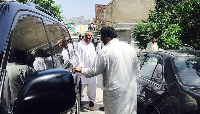 Governor Sindh Muhammad Zubair visits NA-120