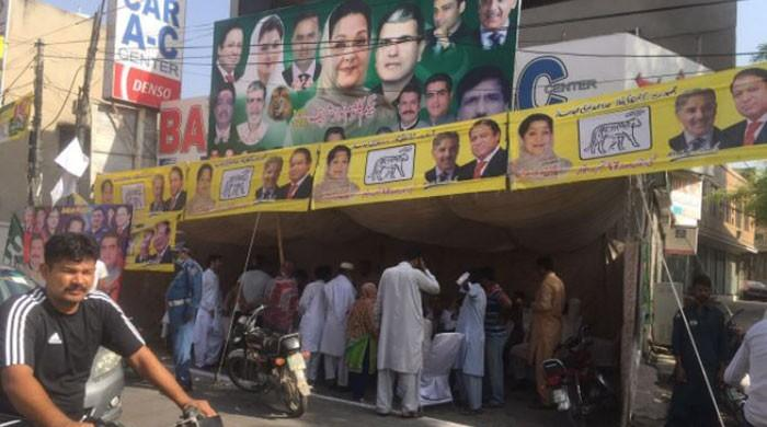 NA-120 by-election in pictures
