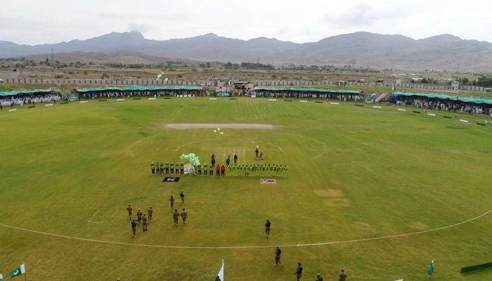 cricket match will be held between Pakistan XI and UK Media XI in Miranshah. Photo: Peshawar Zalmi