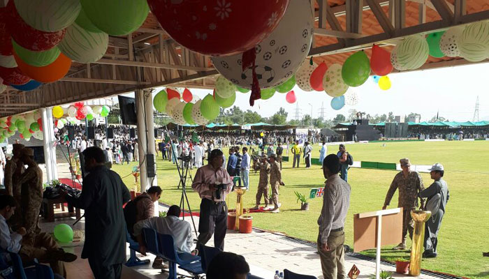 Festive atmosphere at Younis Khan stadium/PCB Twitter