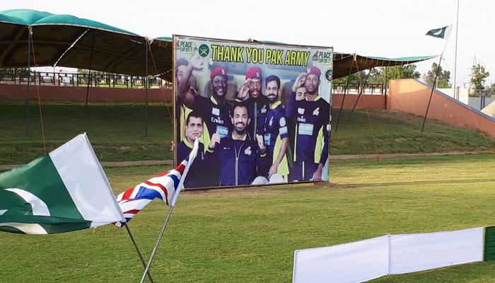 Preparations at Younis Khan stadium, Miranshah/Javed Afridi Twitter