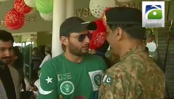 Shahid Afridi meets DG ISPR ahead of the match
