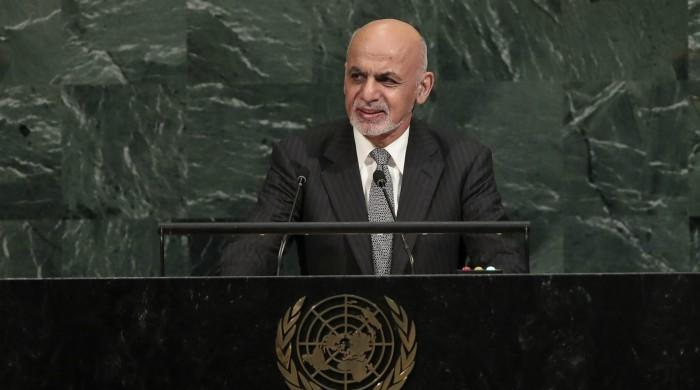 Afghan President Ghani at UN urges dialogue with Pakistan