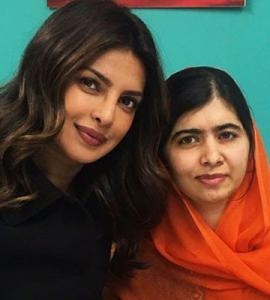 Malala meets Priyanka Chopra and can't contain her excitement