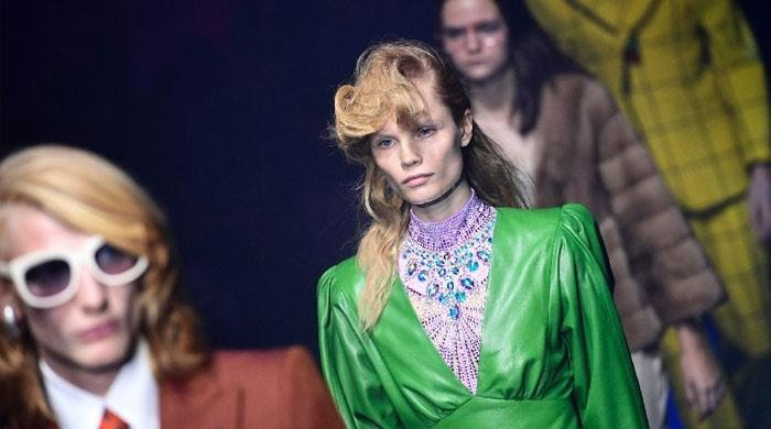 Gucci goes like totally 80s in Milan