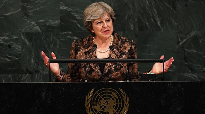 British PM May pays tribute to Benazir Bhutto at UNGA
