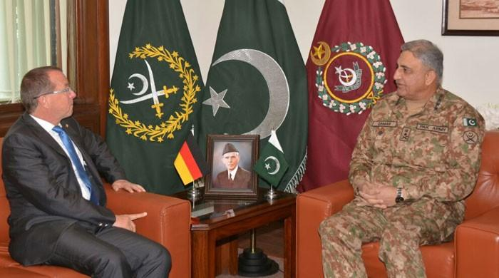 German envoy calls on COAS, discusses mutual interest affairs