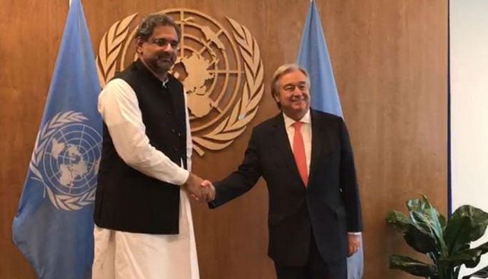 Malala, PM Abbasi discuss female education in Pakistan at UN