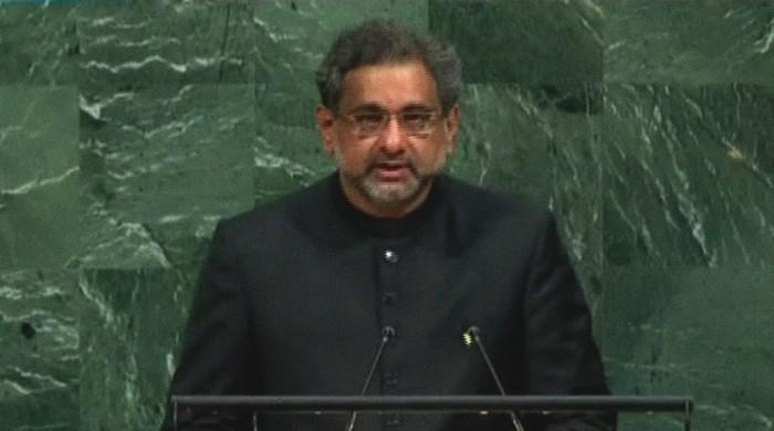 Pakistan 'not prepared to be anyone's scapegoat': PM Abbasi addresses UNGA