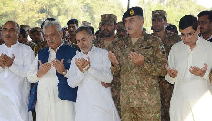 Lt Alam Shaheed's funeral prayers in Peshawar