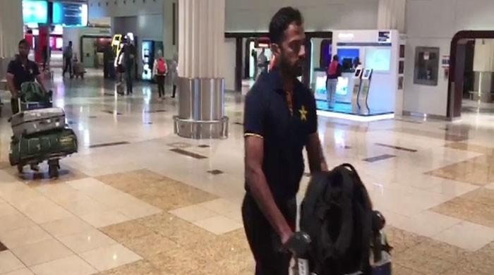 Pakistan cricket team arrives in UAE for series with Sri Lanka
