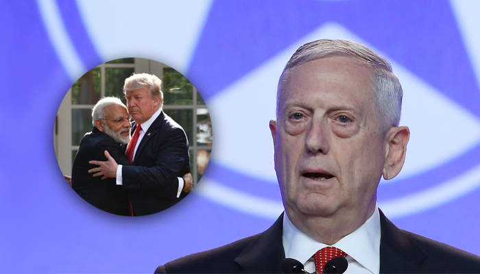 Defence Secretary James Mattis arrives India to boost relations
