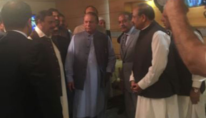 Nawaz Sharif chairs meeting with close aides after returning to Pakistan