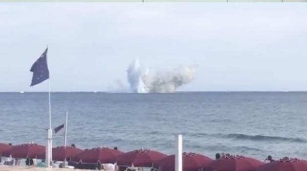 Italian fighter jet crashes into sea