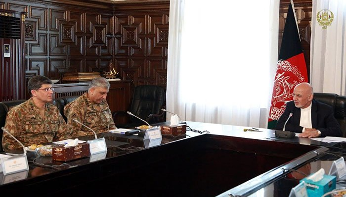 Chief of Army Staff (COAS) General Qamar Javed Bajwa discussed regional security among other issues with President Ashraf Ghani on Sunday.